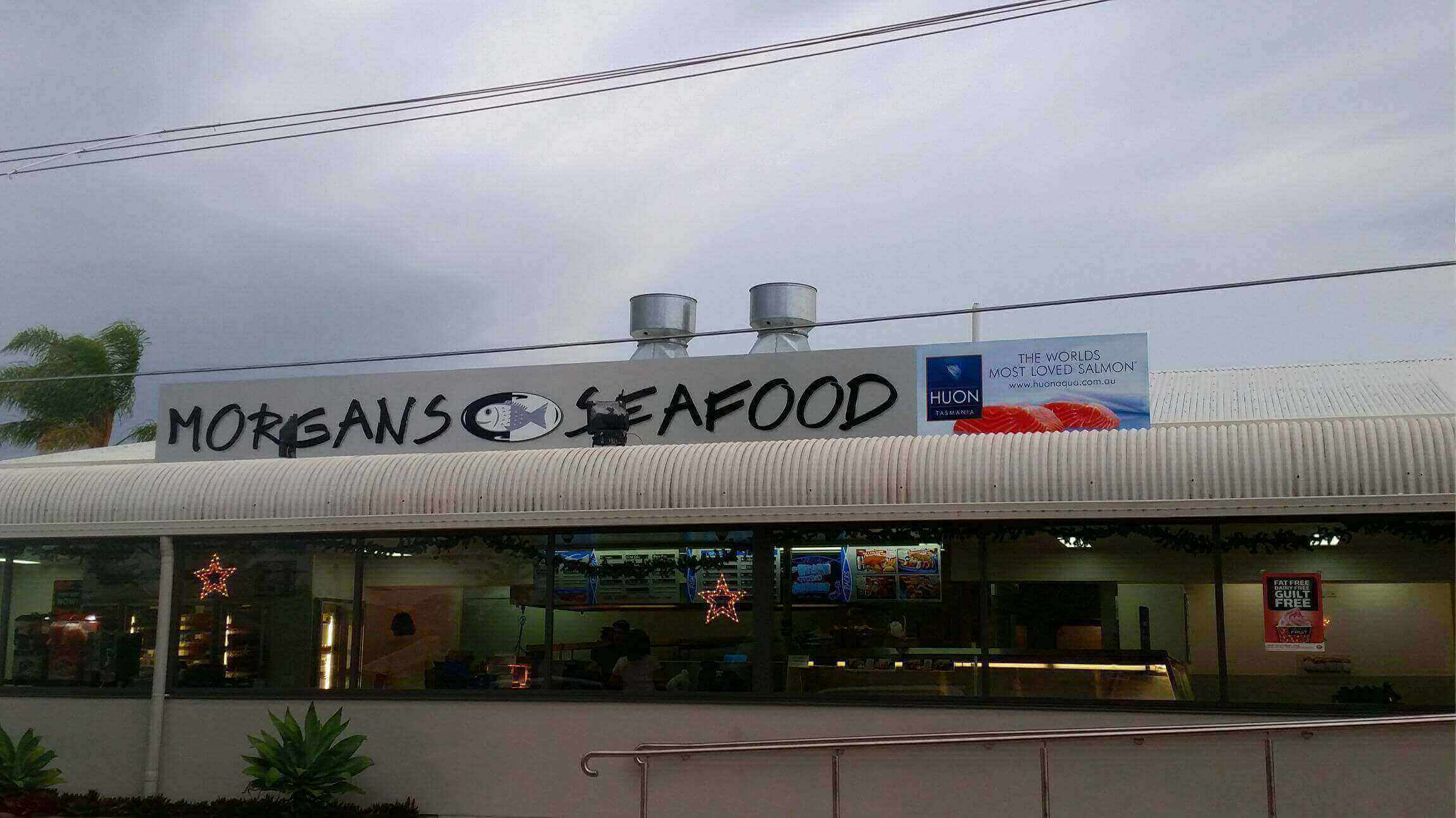 commercial sign seafood